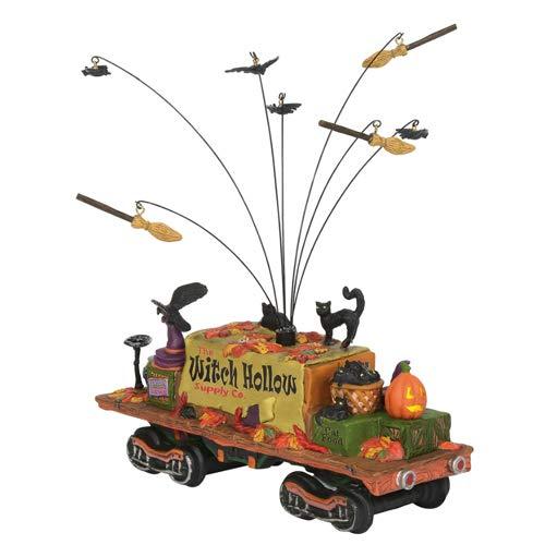 Department56 Snow Village Accessories Halloween Witch Hollow Supply Car Lit Figurine, 3.39