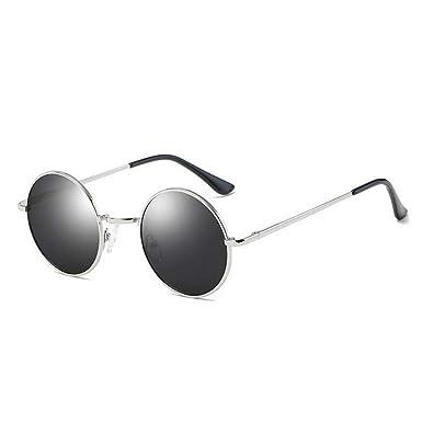 87cc62daa9638 QXDXAH New Fashion Show Style Glasses Real Polarized Sunglasses Vintage Sunglass  Round Sunglasses Uv400 Black Lens