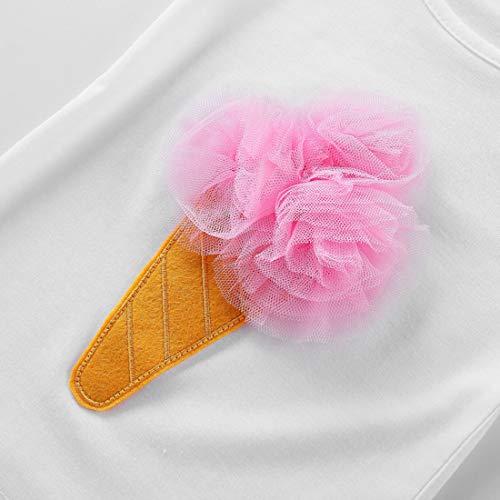 Ropa 150cm Verano Para Con Bebé De Traje Blue Tutú Pink Vestido Piezas Camiseta Dos Size Yajiemei Linda color awqdFxd1