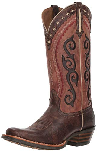 Ariat Women's COWTOWN CUTTER Boot, crossfire cocoa/posse pink, 5.5 B US