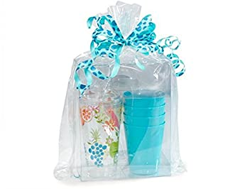 Clear Cellophane Bags Basket Bags Cello Gift Bags Gusset style bag 12 in. X 4
