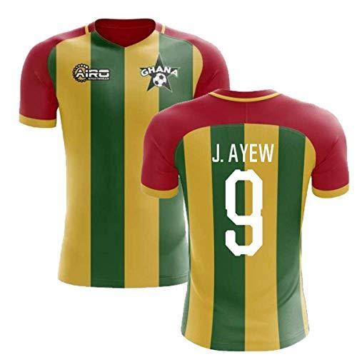 2019-2020 Ghana Home Concept Football Soccer T-Shirt Jersey (Jordan Ayew 9)