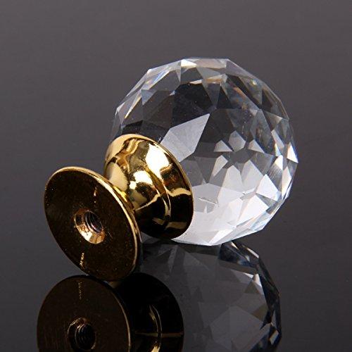 1 und Pomo Tirador en forma de Dorado Cristal Muebles elegante Puerta duradero