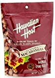 Hawaiian Host Macadamia Nuts Kona Coffee Glazed 4/11oz Bags - Bonus Gift - Hawaiian Tropical Tea