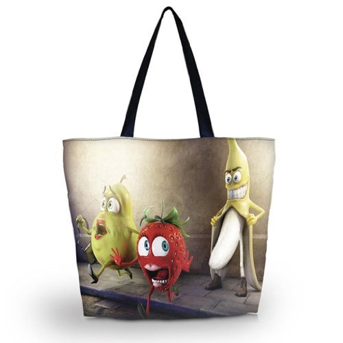(Banana Rogue - Many Colorful Designs Reusable Grocery Bags Large Foldable shopping Bag Handle utility Tote ECO Market Bag Shopping - GW-30011)