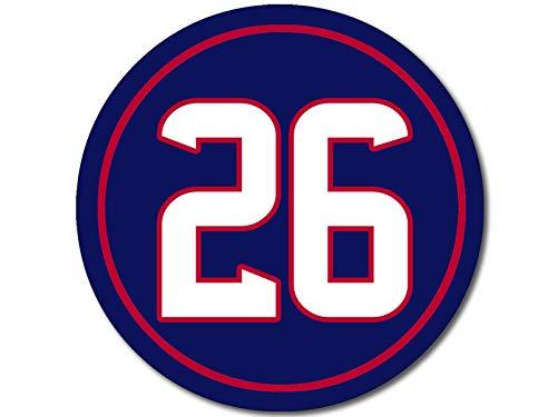 American Vinyl Round #26 Lamar Miller Sticker (Player Texans Number Houston)