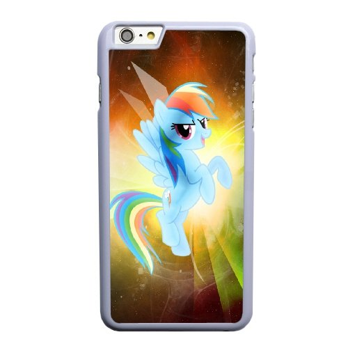 Coque,Coque iphone 6 6S 4.7 pouce Case Coque, Pinkie Pie Y Rainbow Dash My Immortal Leer Cover For Coque iphone 6 6S 4.7 pouce Cell Phone Case Cover blanc