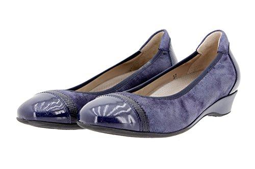 PieSanto Calzado Mujer Confort de Piel 9723 Zapato Bailarina Casual Cómodo Ancho Dakota Marino