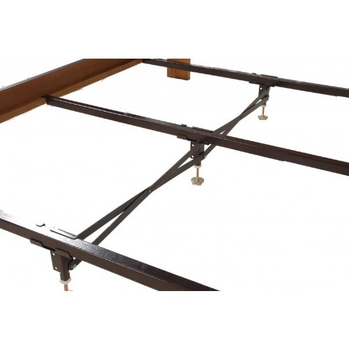 Steel Bed Frame Center Support 3 Rails, 3 Adjustable Legs GS3-XS