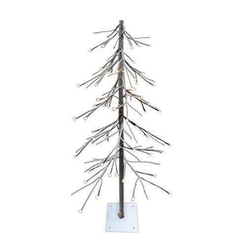 Fir Metal Tree - Lightshare Lighted Snow Fir Tree, Small