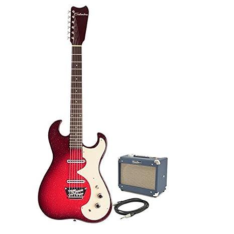 Silvertone 1449 Eléctrica + Pack de Ampli SubZero Tube 5 Rojo: Amazon.es: Instrumentos musicales