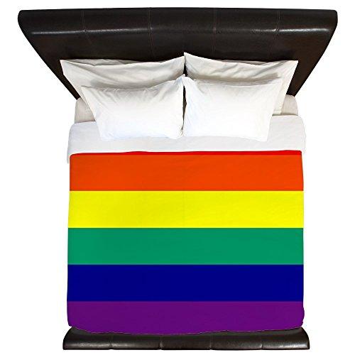 Cheap King Duvet Cover Gay Pride Rainbow Flag HD