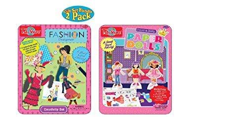 T.S. Shure Fashion Designer and Paper Doll Tin -2 Pack Gift Set Bundle