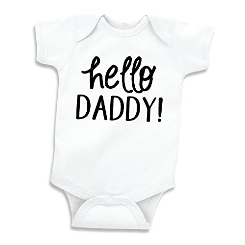 Hello Daddy Surprise Pregnancy Announcement to Husband (0-3 Months) Black ()