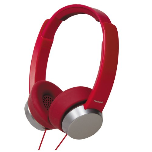 Panasonic RP-HXD3W-R Street Style Monitor Headphones, Red/Silver (Discontinued by Manufacturer) For Sale
