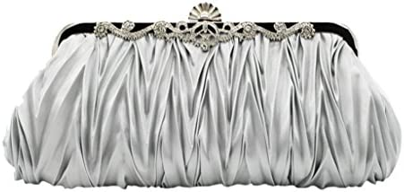 Clearance Sales Envelope Evening Bag AfterSo Womens Girls Gifts Wedding Bridal Party Day Fashion Wristlet Purse Clutch Handbag Wallet Coin Bag Cellphone bag (27cm/10.63″L x 12cm/4.72″H, Silver) – The Super Cheap