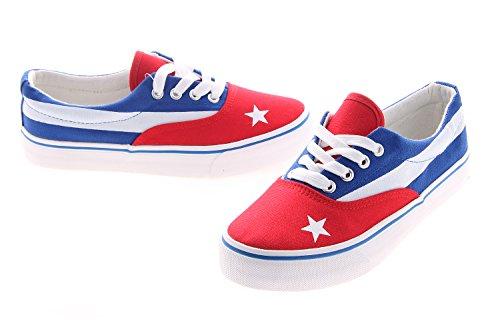 Chaussures de sport pour homme Alma cubaine modèle Van drapeau cubaine temps libre