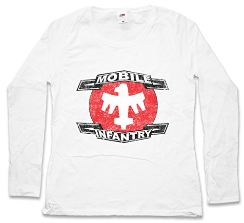Urban Backwoods Mobile Infantry Logo Woman Donna T-Shirt A Manica Lunga – Taglie XS – 2XL