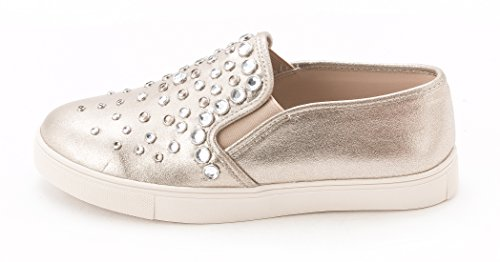 Steve Madden Women's Ellis Embellished Slip-On Sneakers, Metal Mult, Size 10.0 US