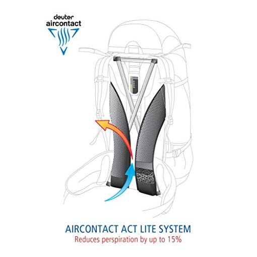 Deuter ACT Lite 35 + 10 SL Ultralight Trekking Backpack, Petrol/Mint