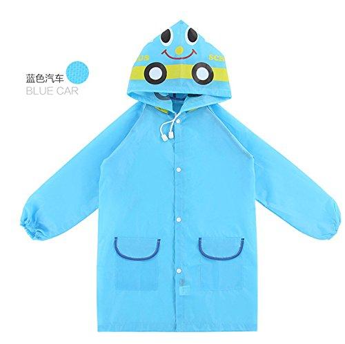 1PC Kids Rain Coat Children Raincoat Rainwear/Rainsuit,Kids Waterproof Animal Raincoat Student - Blue