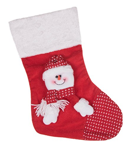 """Snowman Soft Plush Cloth Hanging Christmas Stocking 