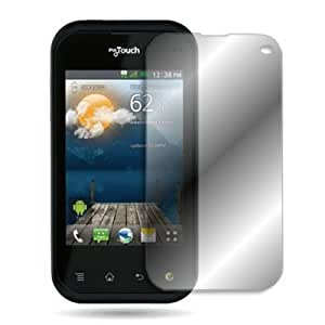 CoverON CLEAR TRANSPARENT Screen Protector LCD Shield Guard Cover for LG MYTOUCH Q C800 (T-MOBILE) [WCL550]