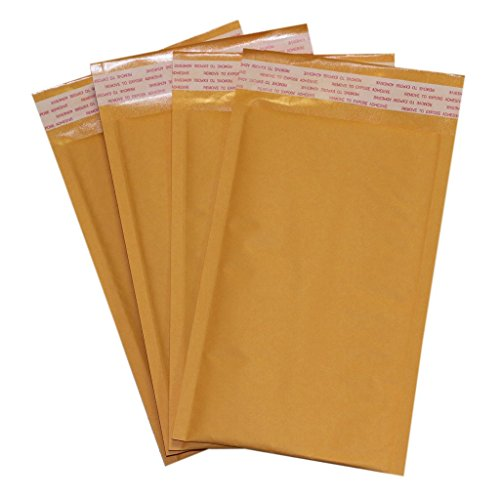 """Discount 10 Pack of 6x10 #0 Kraft Bubble Mailers Self Sealing """"Peel and Seal"""" by Secure Seal 6"""" x 10"""" Padded Shipping Envelopes hot sale"""