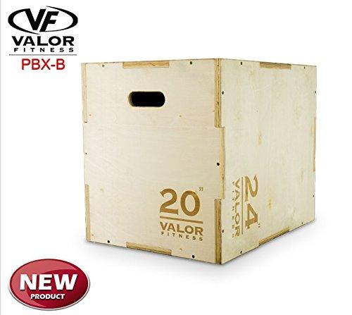 Valor Fitness Plyo Box, 18 x 20 x 24''