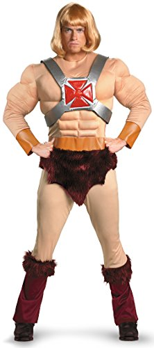 [Disguise Men's Masters Of The Universe He-Man Classic Muscle Costume, Tan/Brown/Blonde, X-Large] (Mens Costumes)