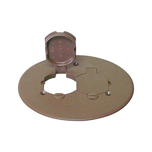 Cantex Round Bronze Duplex Floor Box Cover-Mfg# 5133678U Sold As 2 Units