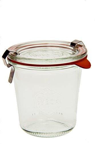 Weck 900 Tall Mold Jar - 1/5 Liter, Set of 6 (Weck Canning Jars)