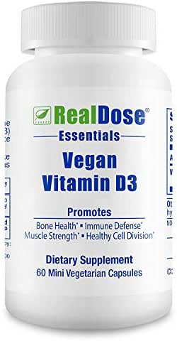 Doctor Formulated Vegan Vitamin D3 Supplement (cholecaliferol) 1000 IU - Helps Maintain Healthy Bones, Strong Muscles, Teeth, Beautiful Skin & Immune Health - 60 Mini Non-GMO Vegetarian Capsules