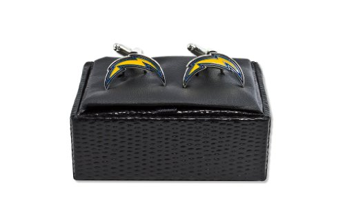 NFL San Diego Chargers Cut Out Logo Cuff Link, Silver