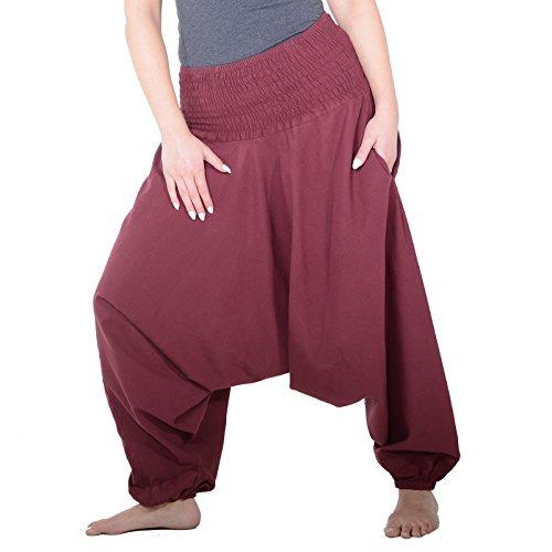 Harem pump Harem Bordeaux Stile orientale colori pantaloncini quedane classici Pluderhose in pantaloni BFnTYqx