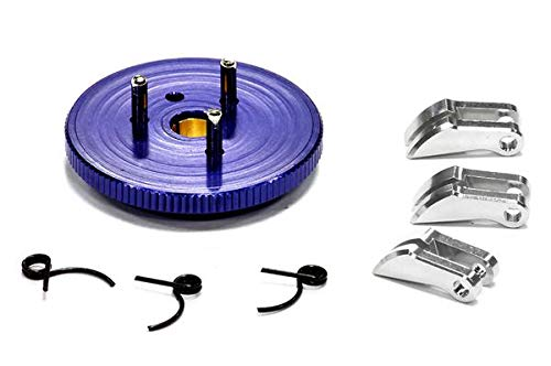 Integy RC Model Hop-ups T3284BLUE Evolution-5 Large Flywheel Clutch Conversion Set 7075 for T-Maxx, Revo & Slayer