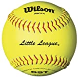 Wilson A9074 Little League Softball (12-Pack), 12-Inch, Optic Yellow