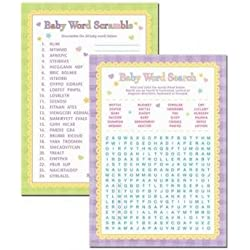 Amscan Baby Shower Word Scramble and Word Search Games