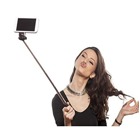 Selfie Stick with aux cable for all Android phones  Black,Red,Green  Selfie Sticks