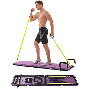 IDEER LIFE Home Gym Workout Fitness Platform,Portable Full Body Exercise Home Gym Workout Kit with Resistance Bands,Push up Bar,Yoga Mat for Muscle Building Training Workout for Home or Outside.