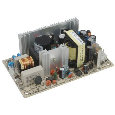 Mean Well PT-65C Open-Frame Switching AC-to-DC Power Supply, Triple Output, 65W, 1.7