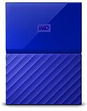 WD My Passport Portable External Hard Drive, 1TB Blue