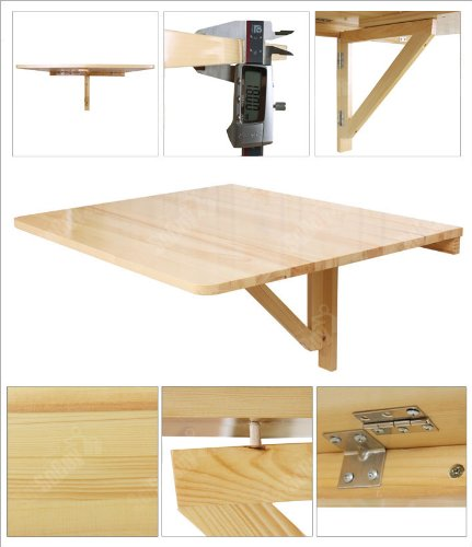 Sobuy Wall Mounted Drop Leaf Table Folding Dining Table Desk Solid