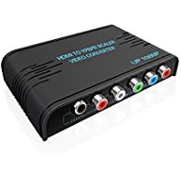 HDMI to Component Converter, HDMI to YPbPr Adapter, HDMI to Video Ypbpr Scaler Converter Supporting Coaxial and R/L Audio Output