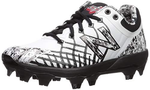 New Balance Men's 4040v5 Molded Baseball Shoe, Pedroia CAMO White/, 10.5 2E US