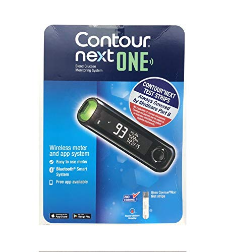 Bayer Contour Next ONE Glucose Monitoring System Wireless Meter and 10 Test Strips