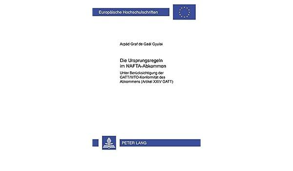 Amazon.com: Die Ursprungsregeln im NAFTA-Abkommen: Unter ...