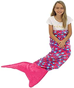 Sleepyheads Mermaid Tail Blanket Super Soft Fleece Sleeping Bag for Kids and Adults Pink and Purple with Pink Tail (SH5500-5002)