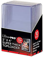 """Ultra Pro 3"""" X 4"""" Super Thick Toploader - Holds 200pt Cards (10 Count)"""
