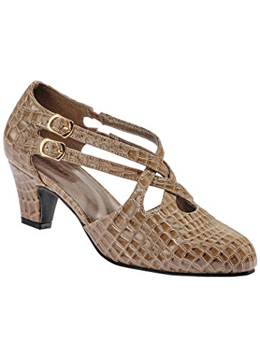 Beacon Womens Adult Angel Steps Willow synthetic Taupe Croco loUuDnM